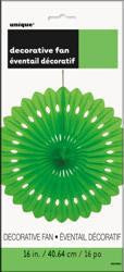 Decorative Fan - Lime Green 40cm