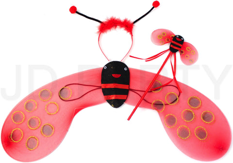 Lady Bug Wing Set - Red