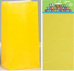Loot Bags - Paper Yellow Pk 12