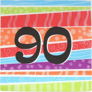 Printed Lunch Napkin - 90th Pk 25