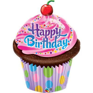 Foil Balloon Supershape - Birthday Frosted Cupcake