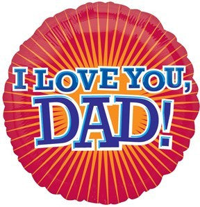 "Foil Balloon 18"" - I Love You Dad"