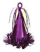 Balloon Weight - Purple Party Hat