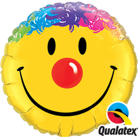"Foil Balloon 18"" - Smiley Face with Hair"