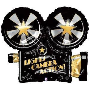 Foil Balloon Supershape - Hollywood Lights Camera Action!