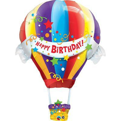 Foil Balloon Supershape - Hot Air Balloon Birthday