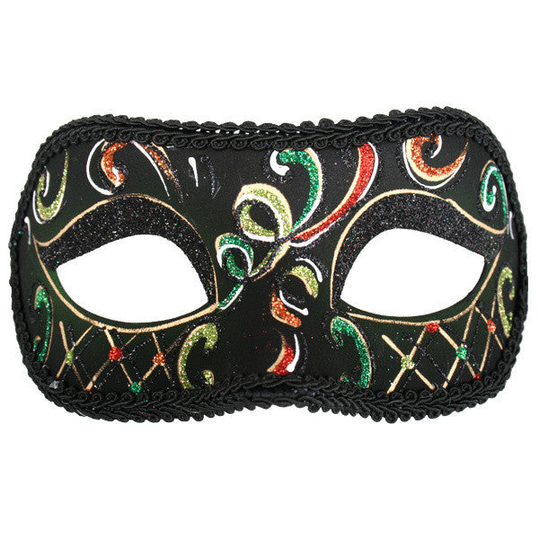 Masquerade Eye Mask - Casablanca Green & Orange