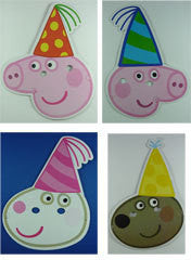 Party Hat Masks - Peppa Pig Pk 8