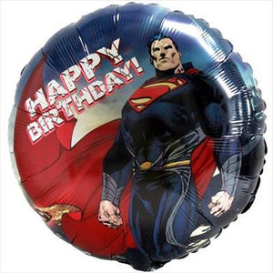 "Foil Balloon 17"" - Superman Birthday"
