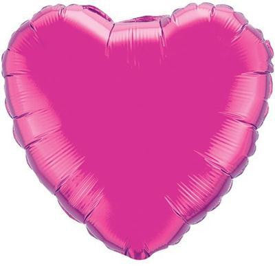 "Foil Balloon 18"" - Heart (Magenta)"