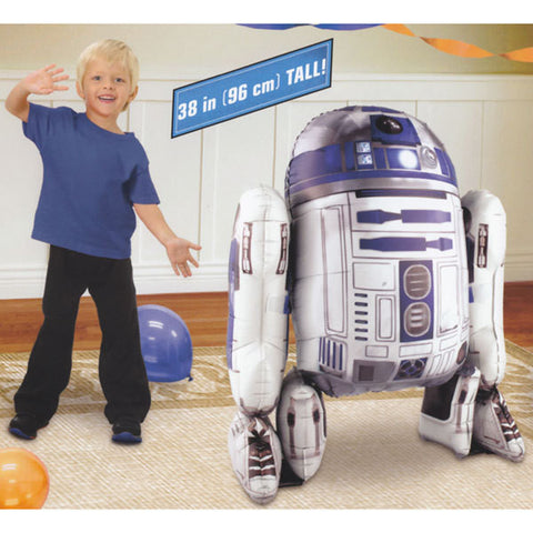 Foil Balloon Air Walker - Star Wars R2D2