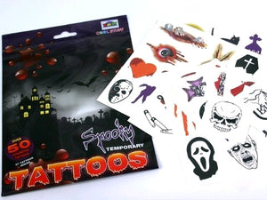 Tattoo Pack - Spooky Asstd 57 Pcs
