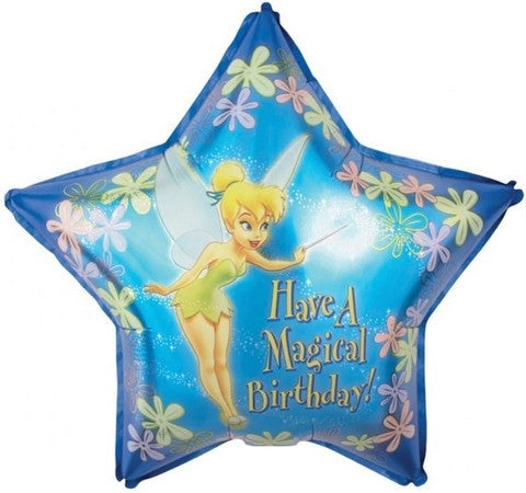 "Foil Balloon 19"" - Disney Fairies Tinkerbell Magical Birthday"