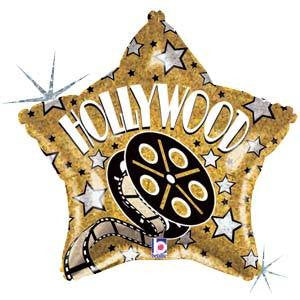 "Foil Balloon 19"" - Hollywood Star"