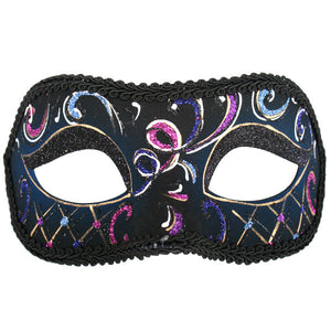 Masquerade Eye Mask - Casablanca Pink & Blue