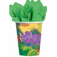 Printed Paper Cups - Prehistoric Dinosaur Party Pk 8