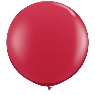 "Qualatex 36"" Jewel Latex - Ruby Red"