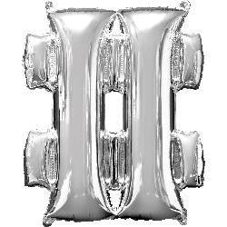 Foil Balloon Juniorloon - Hash Symbol Silver