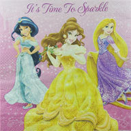 Printed Lunch Napkins - Disney Princess Pk 16