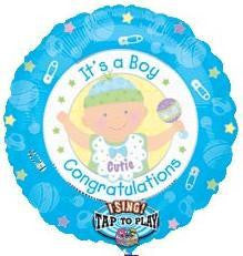 Foil Balloon Singing - Its a Boy'