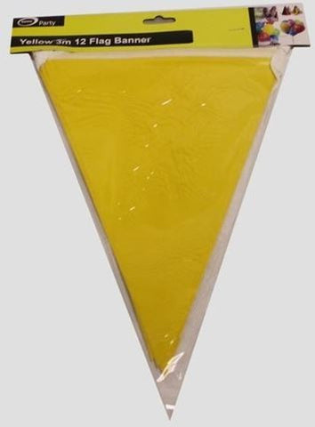 Bunting Flags - Yellow Paper 3m
