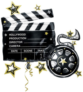 Foil Balloon Supershape - Hollywood Take 1 Clapboard