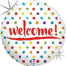"Foil Balloon 18"" - Holographic Welcome Dots"