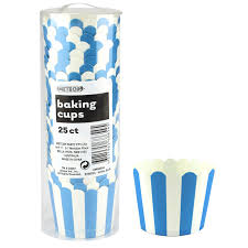 Cup Cake Baking Cups Stripes  D/Blue