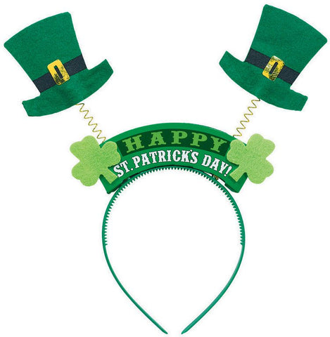 Head Band - Felt Boppers Top Hat Happy St Patrick's Day Headbopper