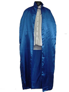 Cape - Blue Satin 1.6m (Adult)