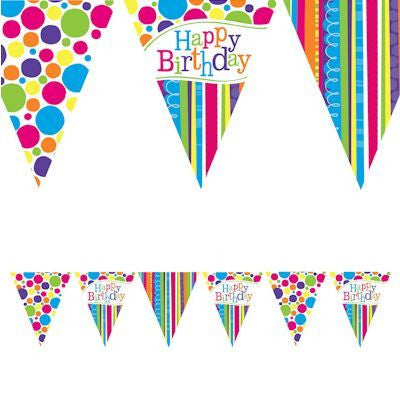 Bunting Flags - Birthday Bright & Bold