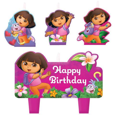 Candle Set - Dora the Explorer 4 pc