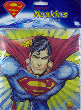 Printed Lunch Napkins - Superman Pk 8
