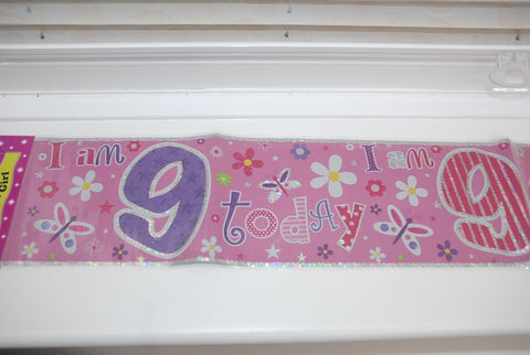 Foil Banner - 9th Birthday