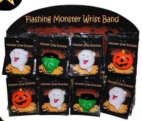 Bracelet - Halloween Flashing Wristband Asstd
