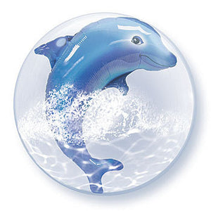 "Double Bubble Balloon 24"" - Dolphin"