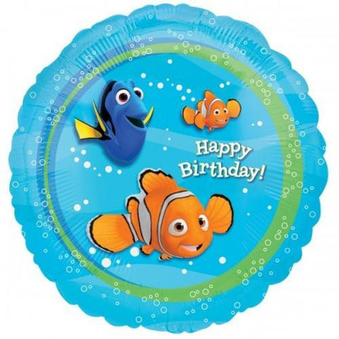 "Foil Balloon 18"" - Birthday Nemo"