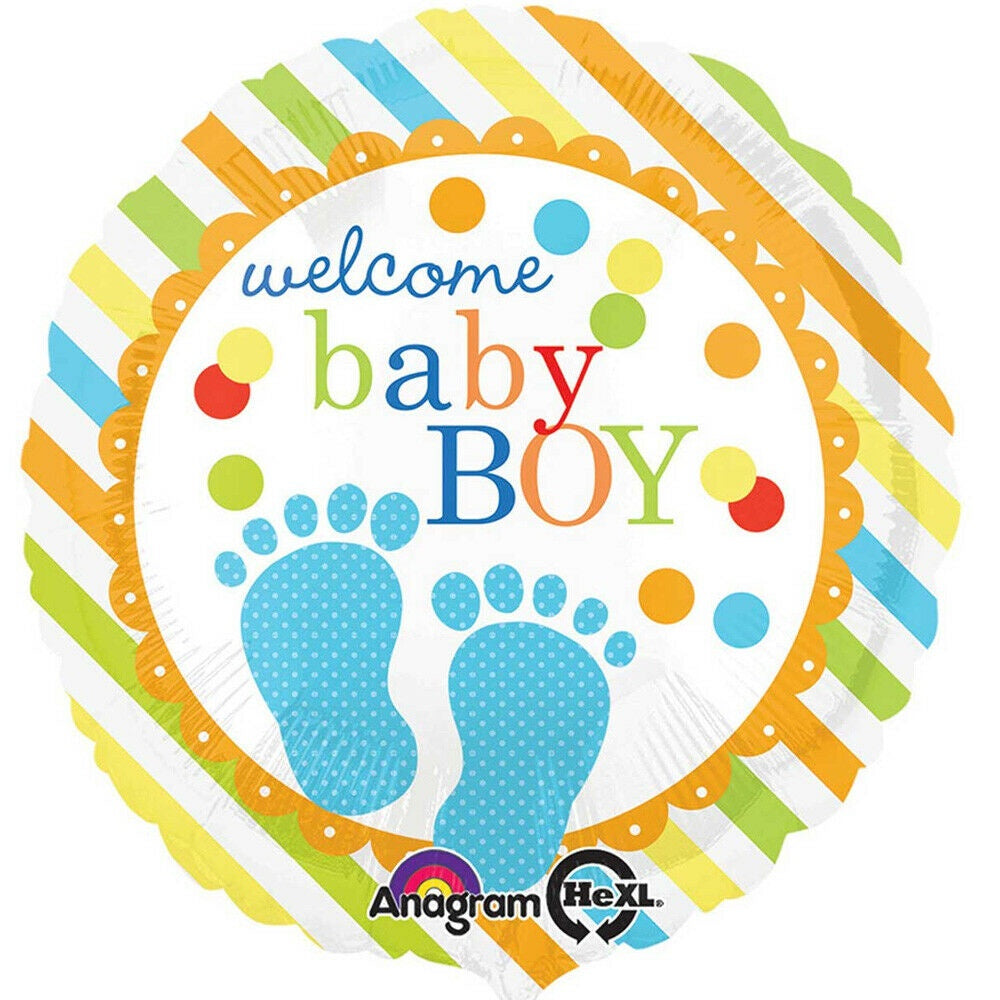 "Foil Balloon 18"" - Welcome Baby Boy"