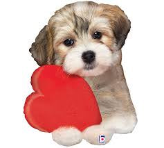 Foil Balloon Supershape - Puppy Adorable Love