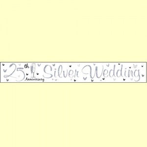 Foil Banner - Silver 25th Wedding Anniversary