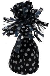Balloon Weight - Black Polka Dot