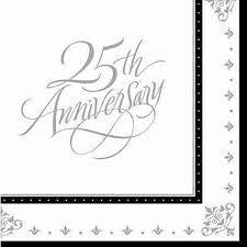 Printed Lunch Napkins 3 Ply - 25th Anniversary Pk 16