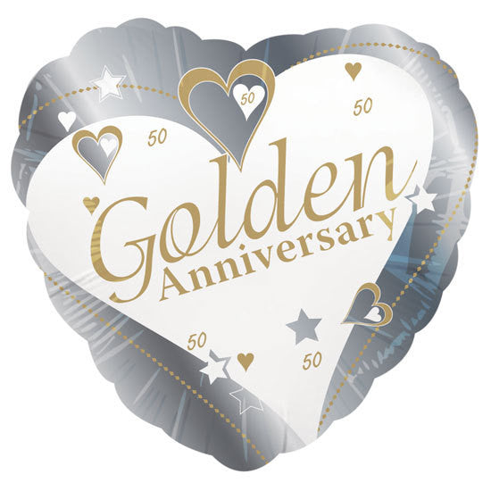 "Foil Balloon 18"" - 50th Golden Anniversary"