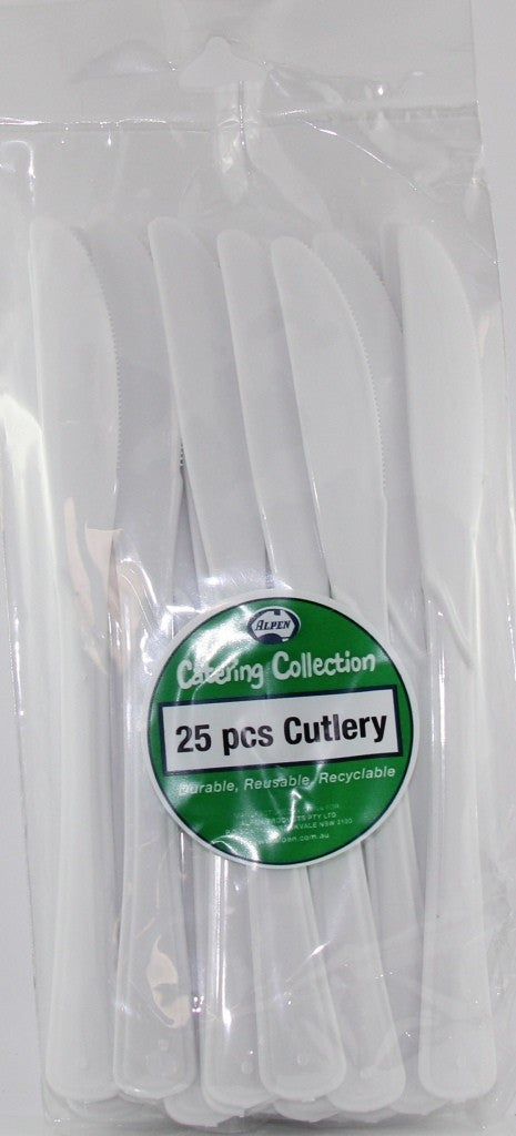 Plastic Knives - White Pk 25