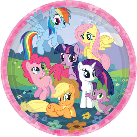 "Printed Plates 9"" - My Little Pony Friendship Round pk8"