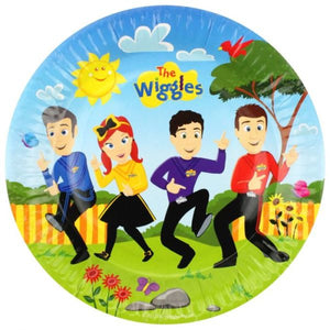 "Plate 9"" Round - The Wiggles Pk8"