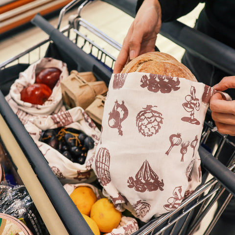 bea, kitchen waste, zero waste products,sustainable, grocery shopping, reusable bags for veggies,