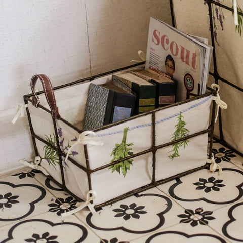 Bouquets of Herbs Storage Bin