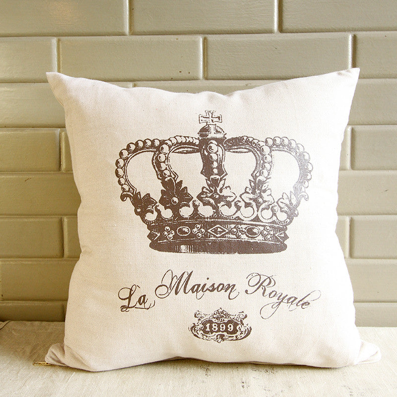 La Maison Royale Throw Pillow