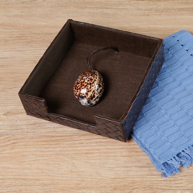 Tiger Cowrie Napkin Holder